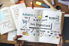 Organize Development Plan Process To-Do Concept Stock Photography