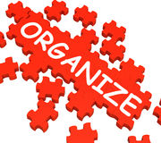 Organize Puzzle Shows Arranging Or Organizing. Organize Puzzle Shows Arranging, Managing Or Organizing Stock Photo