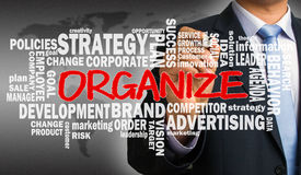 Organize with related business word cloud Royalty Free Stock Photography