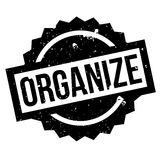 Organize rubber stamp Royalty Free Stock Image