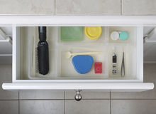 Organized Bathroom Drawer Stock Photography
