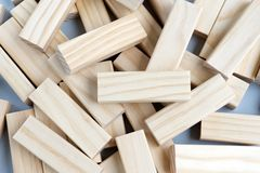 Collapsed Wood Blocks. Organized Chaos - Stacked Of Collapsed Wood Blocks stock photography