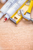 Organized copyspace composition of construction Royalty Free Stock Images