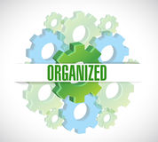 Organized gears background illustration design Royalty Free Stock Photo