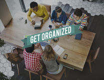 Organized Ideas Management Productivity Concept Royalty Free Stock Photography