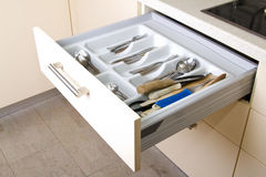 Organized Kitchen Drawer Royalty Free Stock Images