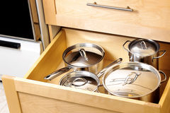 Organized kitchen drawer Stock Photos