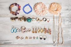 Organized set of jewelry Stock Image