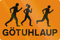 Organized Street Running In Iceland Stock Image