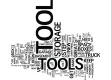 The Organized Tool Box Text Background  Word Cloud Concept Stock Images