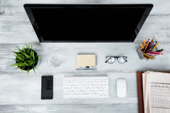 Organized working space Stock Photography