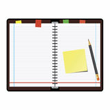 Organizer. Office supplies on a white background Stock Images