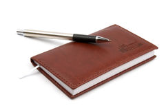 Organizer. Weekly planner with pen on the top Royalty Free Stock Image