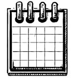 Organizer or calendar. Hand drawing sketch vector illustration Royalty Free Stock Photos