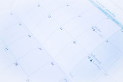 Organizer calendar template paper up close. Stock photo Royalty Free Stock Photo