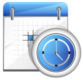 Organizer with Clock. Set of Organizer with calender icon Royalty Free Stock Photos