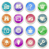 Organizer color icons. Royalty Free Stock Photo