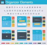 Organizer elements Royalty Free Stock Image