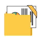 organizer file folder isolated icon Stock Photos