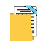 organizer file folder isolated icon Royalty Free Stock Photo