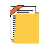 Organizer file folder isolated icon. Illustration design Stock Images