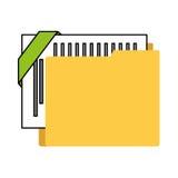 Organizer file folder isolated icon. Illustration design Stock Photography