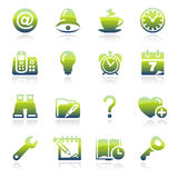 Organizer green icons. Stock Photos