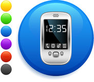 Organizer icon on round internet button Stock Images