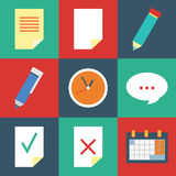 Organizer  icon set Stock Photo