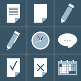Organizer  icon set. This is file of EPS8 format Stock Photos