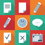Organizer  icon set. This is file of EPS8 format Stock Photo