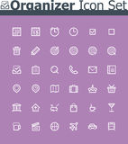 Organizer icon set Stock Image