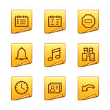 Organizer icons Stock Photos