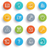 Organizer icons with color buttons. Royalty Free Stock Photography