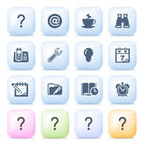 Organizer icons on color buttons. Royalty Free Stock Photography