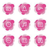 Organizer icons, pink series. Vector web icons, pink flower series, V2 Royalty Free Stock Photos