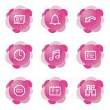 Organizer icons, pink series Royalty Free Stock Photos