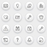 Organizer icons with white buttons on gray backgro Royalty Free Stock Photo