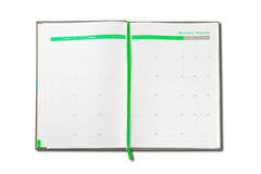 Organizer note book Stock Photography