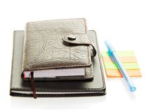 Organizer, notepad, note paper and the handle Royalty Free Stock Photo