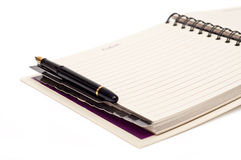 Organizer and pen Stock Photo