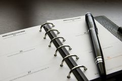 Organizer with a Pen Stock Photography