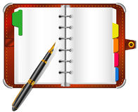 Organizer and pen Stock Photos