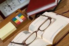 Organizer, pen, books. Royalty Free Stock Image