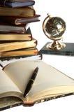 Organizer, pen, books Royalty Free Stock Photos