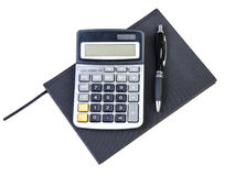 Organizer, pen and calculator Stock Image