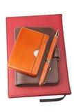 Organizer pen and diary Stock Photo