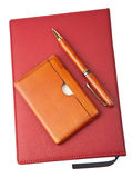 Organizer and pen isolated Stock Photography