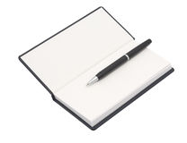 Organizer with pen. White background. Isolated object Royalty Free Stock Photo