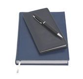 Organizer with pen. White background. Royalty Free Stock Image